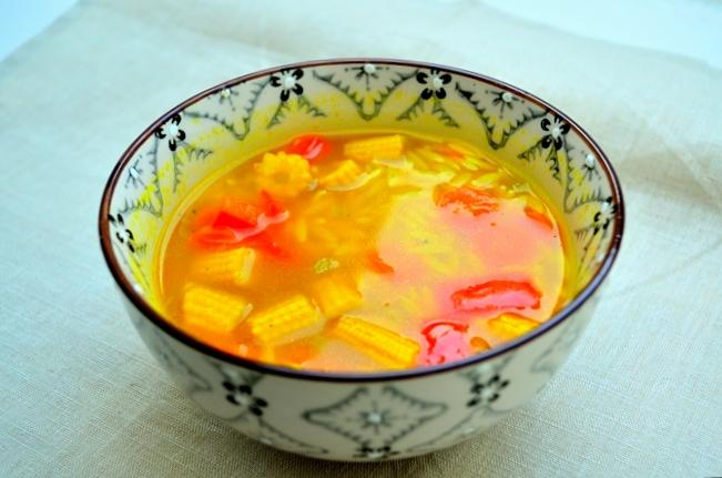 Currysoppa med grönsaker
