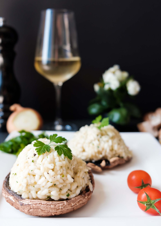 Portobello risotto