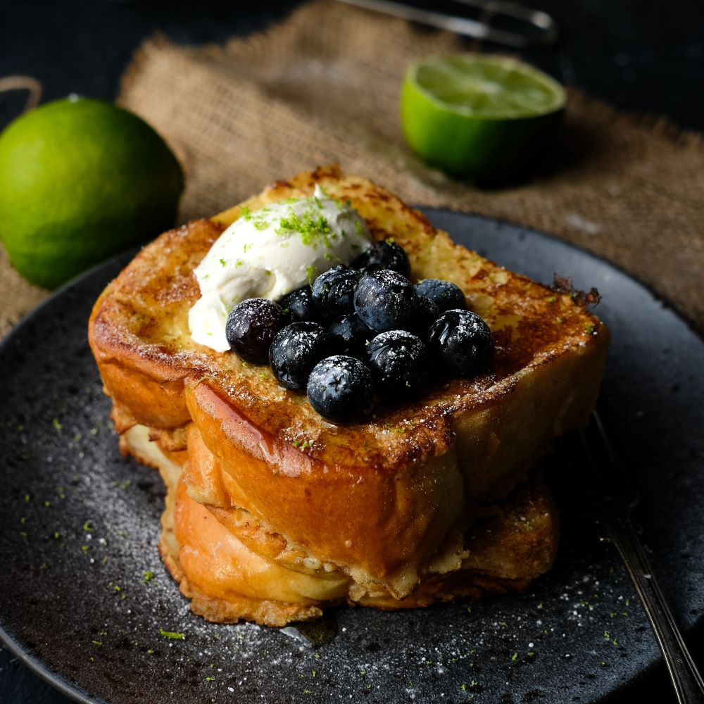French toast med blåbär